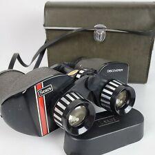 Vintage Sears Discoverer Binoculars 6273 Amber Coated Japan 10x50