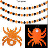 NEW Halloween Props Garland Pumpkin Spider Hanging Ghost Paper Party Decor Scary