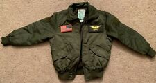 Authentic Military Flight Jacket Size Toddler Large