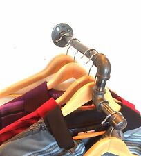 "Industrial 16"" Pipe Wall Rack Clothing Rack, Closet Organization, Retail Display"
