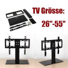TV Standfuß universal 26-32 Zoll Fernseher Halter Ständer Halterung schwarz