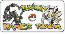 Personalised Pokemon Aluminium Door Name Plaque