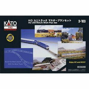 Kato ~ New 2021 ~  HO Scale 4' x 8' Unitrack Track Expander Set ~ 3-103