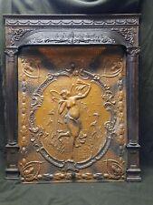 Antique Ornate Victorian Cast Iron Fireplace Insert Nymph 30 X 25 X 3� 5 Pc
