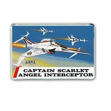RETRO -AIRFIX BOX ART- CAPTAIN SCARLET - ANGEL INTERCEPTOR JUMBO FRIDGE MAGNET