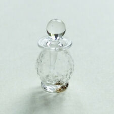Dolls house miniatures: clear glass scent bottle