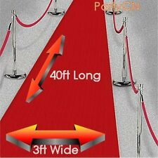 Large 40ft Red Carpet - Party Decoration - Hollywood & Casino Party Decorations