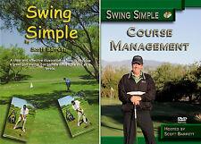 Scott Barrett SWING SIMPLE & COURSE MANAGEMENT GOLF INSTRUCTION DVD VIDEO