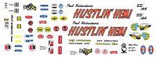 Paul Richardson's Hustlin' Hemi White Dodge 1/64th Ho Scale Slot Car Decals