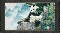 """Quilting Treasures IMPERIAL PANDA Panel 100% Cotton Fabric Panel 44"""" X 24"""""""