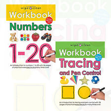 Roger Priddy Collection Wipe Clean Workbooks Series 2 Books Set Numbers 1-20 NEW