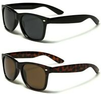 Diseñador Gafas de Sol Polarizadas Clásico Cuadrado Big Retro Negro Hombre Mujer