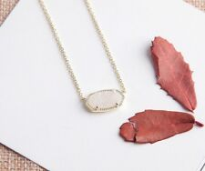 KENDRA SCOTT ELISA Gold Tone Iridescent Drusy Pendant Necklace-RV $65-NWT!