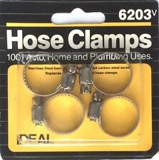 """Ideal Hose Clamps-Clamping Range 5/16"""" To 7/8"""" No. 6203 -For Auto, Home/Plumbing"""