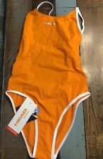 New Head Swimming Womens Swim Suit Size Swim Team Sport One Piece Orange Size 32