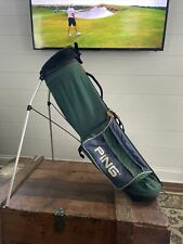 Ping 4 Way Lightweight L8 Style Stand Carry Bag Dual Strap Used  Green & Blue