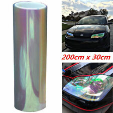 Autos Tailight Headlight Chameleon 200x30cm Colorful Clear Tint Vinyl Film Cover