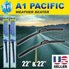 "All season Bracketless 22"" Inch J-HOOK Windshield Wiper Blades OEM QUALITY Chevy"