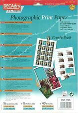 Decadry OCI-4726 Photographic Print Paper Combi Pack Business ID Cards
