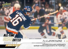 PRESALE 2019-20 UD ALL TIME Game Dated PAT LaFONTAINE Islanders Scores In 4th OT