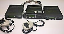 3 Motorola Mc S2000 Two Way Mobile Radios With 2 Mics