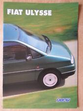 FIAT ULYSEE orig 1997 1998 UK Mkt sales brochure