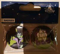 BADGES VILLAINS MALEFIQUE Disneyland Paris