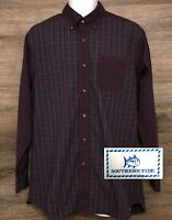 Southern Tide Mens Classic Fit Multi-Color Plaid Long Sleeve Button Down Shirt M