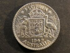 Australia.  Florin (2 Shillings), 1947.