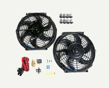 "10"" Dual Electric Radiator Fan with 185 Degree Temperature Switch Relay Kit NEW"