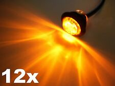 12x 3/4 Maxxima Amber Clear LED Clearance Marker Light Trailer Jeep Motorcycle