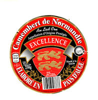 Etiquette de Fromage camembert excellence Pays D'Auge