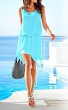 Kleid Zipfel Kleid Heine asymetrisch mint blau Gr 38 40