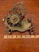 Vintage Ornate Brass & Glass Ink Well/Fountain