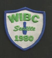 "WIBC SEATTLE 1980   VINTAGE BOWLING PATCH 2 1/2  """