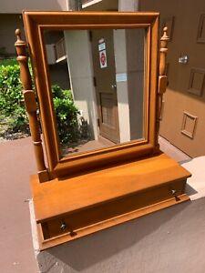 **RARE**Ethan Allen Heirloom Maple Cheval Chest/Dresser Mirror
