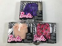 Barbie Fashion Doll Pack Pink Floral Skirt               LOT OF 3