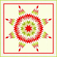 """Yuletide Snowflake Lone Star Quilt Pattern by Fig Tree & Co. 80"""" X 80"""""""