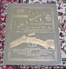 W.J. George-Dover-England-Cata logue of Shotguns Rifles Revolvers Etc.-Circa 1900