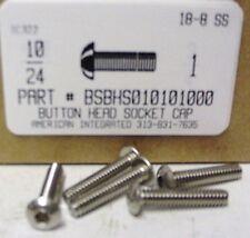 #10-24x1 Button Head Hex Socket Cap Screws Stainless Steel (25)