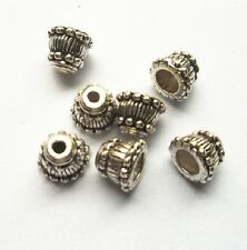 50pcs Tibet silver  horn Flower End Beads Caps 9x7 mm