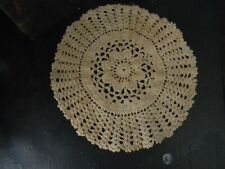 """10"""" Tea Stained Lacy Doily Farmhouse Primitive Country Home Decor"""