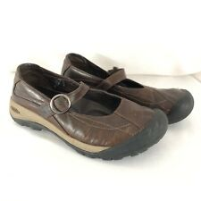 Keen Womens Shoes Comfort Mary Jane Buckle Leather Brown Size 9.5