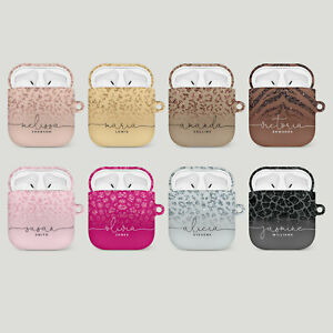 Personalised AirPods Case Cover 1 2 Pro Cute Designer For Girls Animal Print
