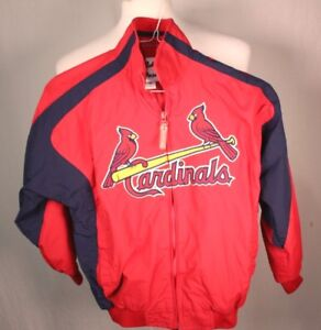 MAJESTIC St Louis Cardinals Redbirds Full Zip Windbreaker Jacket MLB Youth Small