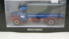 MINICHAMPS - MAN 750 TURBO CANVAS TRUCK BLUE  - 1/43