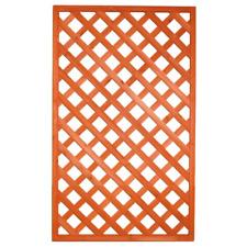 Pannello grigliato rettangolare in legno trattato cm 90x150 da terrazzo giardino