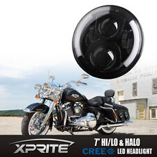 "7"" Round G2 50W CREE LED Headlight Assembly For Harley Davidson Motorcycle Bike"