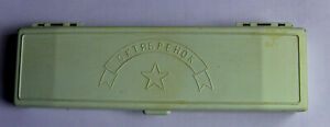 Vintage USSR School Pencil Case Box for Pens with  1980s