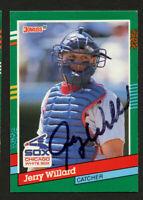 Jerry Willard #634 signed autograph auto 1991 Donruss Baseball Trading Card